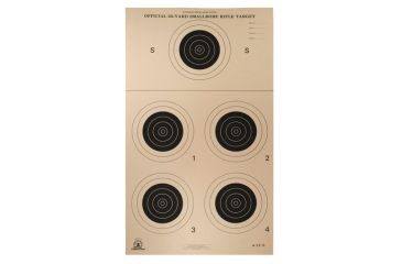 Target Barn A-23/5 Conventional Outdoor Paper Targets 5 Per Sheet 100 Sheets Per Pack