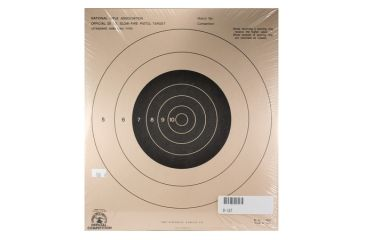 Target Barn B-16 Slow Fire Pistol Targets With Black Center 100 Per Pack