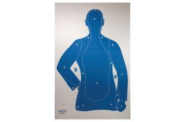 Target Barn B-21-E Cardboard Silhouette Police Training Targets 50 Per Pack
