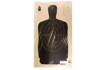 Target Barn B-34 Police Silhouette Paper Targets 25 Yard 100 Per Pack