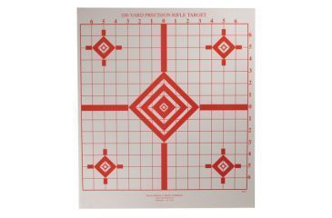 Target Barn ST-4 Rifle Sighting Targets With Grids 100 Per Pack