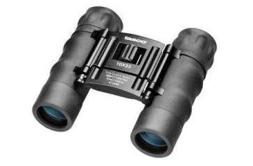 Tasco Essential 10x25 Roof Prism Water Resistant Binoculars, Black, Clam Pack - 168RBD
