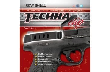 1-Techna Clips Handgun Retention Clip S&w Shield Auto Right