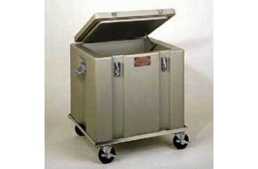 Tegrant Thermosafe ThermoSafe Dry Ice Storage and Transport Chests, ThermoSafe Brands 377R Aluminum Dolly With 4'' Casters for 302 Dry Ice Chest