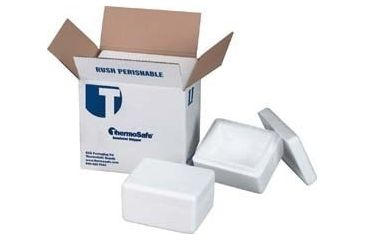 Tegrant Thermosafe ThermoSafe Thick and Thin Wall Insulated Shippers, Expanded Polystyrene, ThermoSafe Brands 445 Thick Wall, Foam Only