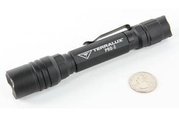 TerraLUX Pro 220 Lumen, 2xAA Aluminum Single Mode LED Flashlight, Black TLF-PRO-2-BLK