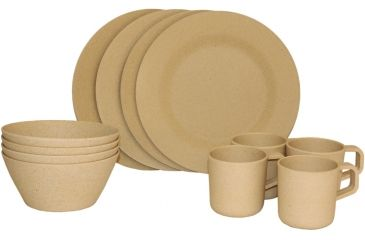 Texsport Bamboo Dinnerware Set Panda Picnic with 4 Sets of Plates Bowls  sc 1 st  Optics Planet : bamboo picnic plates - pezcame.com