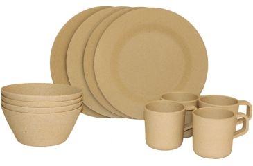 Texsport Bamboo Dinnerware Set 14600 14604 Texsport