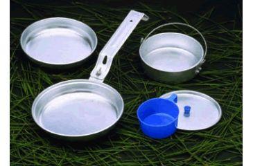 """Texsport Cookware Set, 7"""" Diameter Frying Pan, 6.50"""" Diameter Frying Pan, 16 fl oz Boiler, Lid, 8 fl oz Mug 13150TEX"""