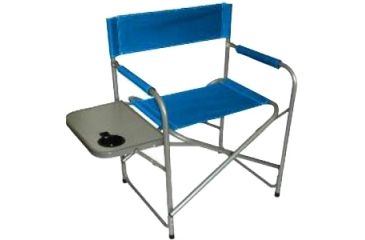 "Texsport Directors Chair with Table, Steel Frame, 32.0"" x 19.0"" x 32.0"", Fabric Blue Seat 15157TEX"