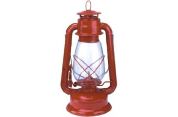 "Texsport Kerosene 12"" Lantern, MetalBody, GlassGlobe, Red 15998TEX"