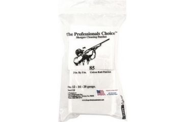 12-The Professionals Choice 100% Cotton Knit White Square Patches