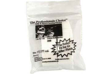 1-The Professionals Choice 100% Cotton Knit White Square Patches