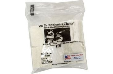 15-The Professionals Choice 100% Cotton Knit White Square Patches
