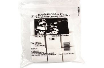 3-The Professionals Choice 100% Cotton Knit White Square Patches