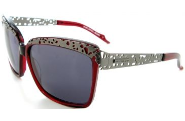 Thierry Mugler Single Vision Prescription Sunglasses 10207 Burgundy-Mat Gunmetal Frame, Women, 58-14-125 10207-C8RX