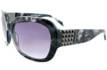Thierry Mugler Single Vision Prescription Sunglasses 10211 Black-Grey Marble Frame, Women, 57-18-125 10211-C5RX