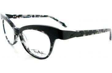 Thierry Mugler Single Vision Prescription Eyeglasses 9320 Black-Tortoise-Gunmetal Frame, Women, 49-18-140 9320-C4RX
