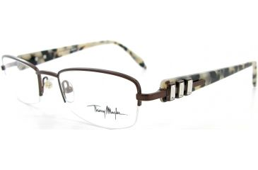 Thierry Mugler Single Vision Prescription Eyeglasses 9273 Brown-Tortoise Frame, Women, 50-19-135 9273-C4RX