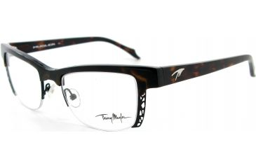 Thierry Mugler Single Vision Prescription Eyeglasses 9283 Tortoise-Black Frame, Women, 50-19-138 9283-C3RX