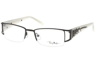Thierry Mugler Single Vision Prescription Eyeglasses 9302 Black-Cream Frame, Women, 50-18-135 9302-C4RX