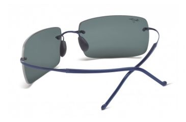 Maui Jim Thousand Peaks Sunglasses w/ Blue Frame and Neutral Grey Lenses - 517-03, Back View