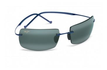 Maui Jim Thousand Peaks Sunglasses w/ Blue Frame and Neutral Grey Lenses - 517-03, Quarter View