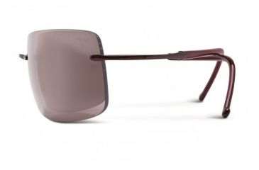 Maui Jim Thousand Peaks Sunglasses w/ Burgundy Frame and Maui Rose Lenses - R517-07, Side View