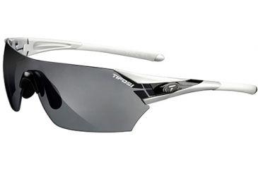 Tifosi Optics Podium w/ EC, GT, Smoke Lenses, Metallic Silver Frame 1000200615
