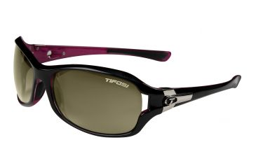 Tifosi Dea Single Vision Prescription Sunglasses - Gloss Black & Pink Frame 0090203208