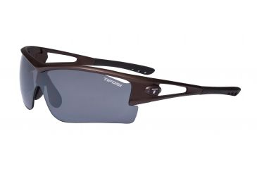 Tifosi Logic XL Sunglasses - Matte Brown Frame, Brown/AC Red/Clear Lenses 0060103002