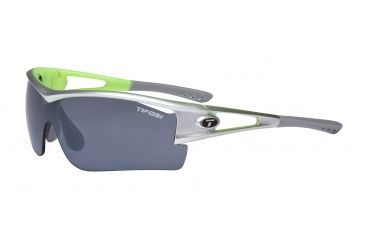 Tifosi Logic XL Sunglasses - Silver/Neon Green Frame, Smoke/AC Red/Clear Lenses 0060105101