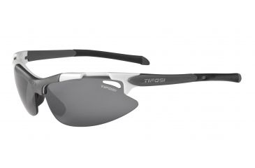 Tifosi Pave Sunglasses - Pearl White Frame, Smoke/AC Red/Clear Lenses 0130101101