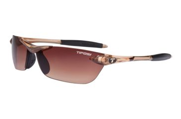 Tifosi Seek Sunglasses - Crystal Brown Frame, Brown Gradient Lenses 0180404779