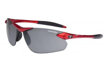 Tifosi Seek FC Sunglasses - Metallic Red Frame, Smoke Lenses 0190402770