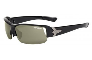 Tifosi Slope Sunglasses - Gloss Black Frame, GT/EC/AC Red Lenses 0030200210