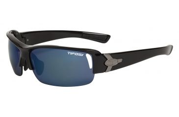 Tifosi Slope Sunglasses - Gloss Black Frame, Smoke Blue/AC Red/Clear Lenses 0030100204
