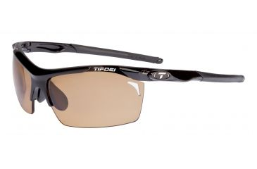 Tifosi Tempt Sunglasses - Gloss Black Frame, Brown Polarized Fototec Lenses 0140600260