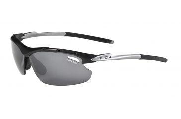 Tifosi Tyrant Sunglasses - Matte Black Frame, Smoke/AC Red/Clear Lenses 0070100101