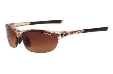 Tifosi Wisp Sunglasses - Crystal Brown Frame, Brown Gradient/AC Red/Clear Lenses 0040104702