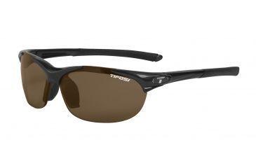 Tifosi Wisp Sunglasses - Gloss Black Frame, Brown Polarized Lenses 0040500250