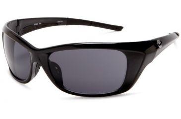 Timberland TB7054 Sport Sunglasses, Pearl Black Frame & Solid Smoke Lens TB70540001A