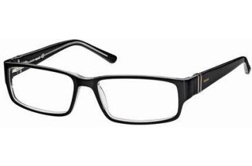 Timberland TB1220 Eyeglass Frames - Black/Crystal Frame Color