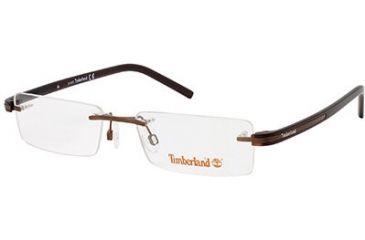 Timberland TB1244 Eyeglass Frames - Shiny Dark Brown Frame Color