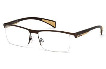 Timberland TB1275 Eyeglass Frames - Matte Dark Brown Frame Color