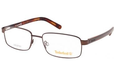 Timberland TB1527 Eyeglass Frames - Shiny Dark Brown Frame Color
