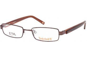 Timberland TB5037 Eyeglass Frames - Shiny Dark Brown Frame Color