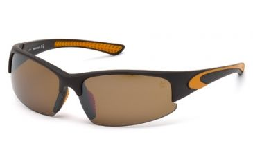 Timberland TB9047 Sunglasses - Matte Dark Brown Frame Color, Brown Polarized Lens Color