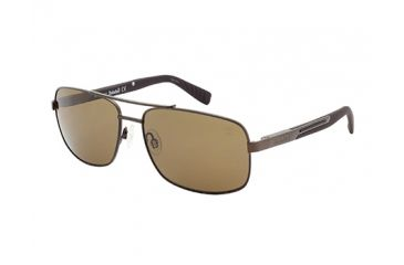 Timberland TB9057 Sunglasses - Matte Dark Brown Frame Color, Brown Polarized Lens Color