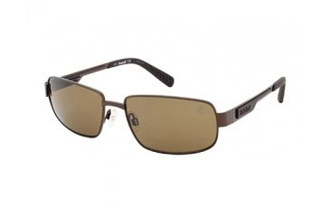 Timberland TB9060 Sunglasses - Matte Dark Brown Frame Color, Brown Polarized Lens Color